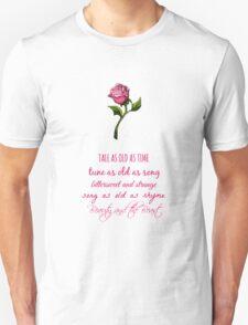 Beauty and the Beast Lyrics Unisex T-Shirt