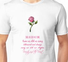 Beauty and the Beast Lyrics Unisex T-Shirt