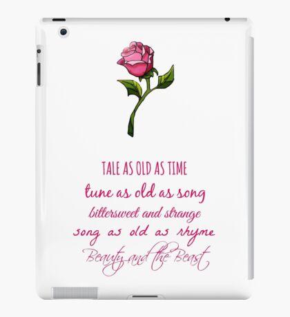 Beauty and the Beast Lyrics iPad Case/Skin