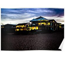 Wamberal Beach houses at Night Poster