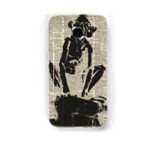 Stencil Of Gollum,Smeagol Over Old Dictionary Page Samsung Galaxy Case/Skin