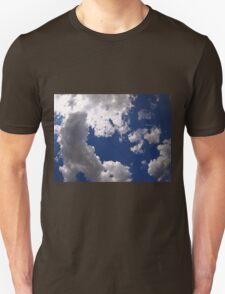 Dark clouds in the blue sky Unisex T-Shirt
