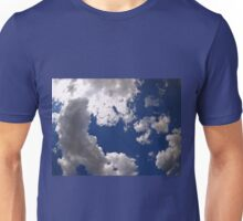Dark clouds in the blue sky Unisex T-Shirt