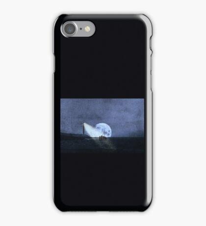 Across The Sea A Pale Moon Rises iPhone Case/Skin