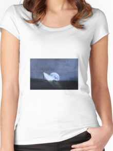 Across The Sea A Pale Moon Rises Women's Fitted Scoop T-Shirt