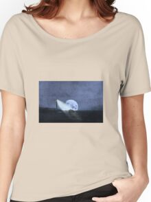 Across The Sea A Pale Moon Rises Women's Relaxed Fit T-Shirt