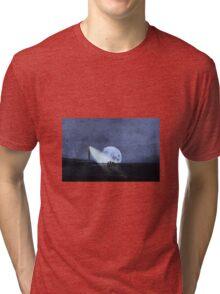 Across The Sea A Pale Moon Rises Tri-blend T-Shirt