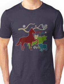 Barnyard Animals | Peace on Earth Christmas Unisex T-Shirt