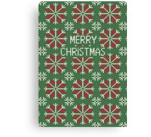 Knitted Christmas jacquard Canvas Print