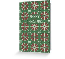Knitted Christmas jacquard Greeting Card