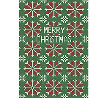 Knitted Christmas jacquard Photographic Print