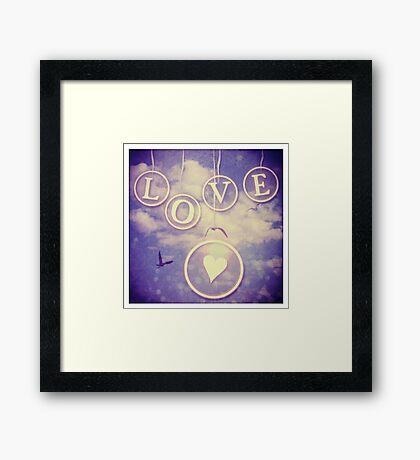 Love ♥ Framed Print