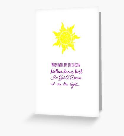 Tangled Music Greeting Card