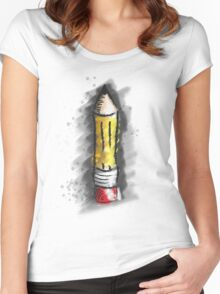 Pencil Art Women's Fitted Scoop T-Shirt