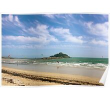 Windsurfing Around St Michael's Mount Poster