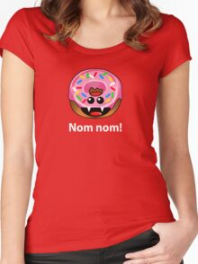 NOM NOM! Women's Fitted Scoop T-Shirt