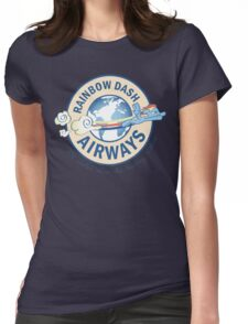 Rainbow Dash Airways Womens Fitted T-Shirt