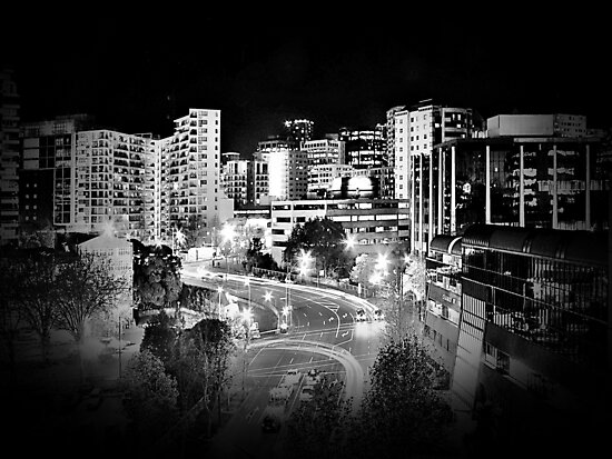 Mayoral Drive, Downtown Auckland, New Zealand. by Lynne Haselden