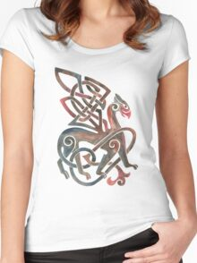 Celtic Gryphon Women's Fitted Scoop T-Shirt