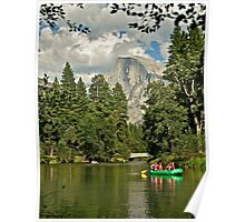 Rafting under Half Dome Poster