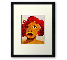 Sexy Glamourous Lady, watercolor Framed Print