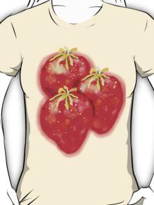 3 Strawberries TEE SHIRT/BABY GROW/STICKER T-Shirt