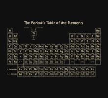 The Periodic Table of the Elements - Hand Drawn Kids Clothes