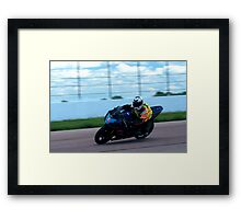 GSX-R 750 at Heartland Park Topeka Framed Print