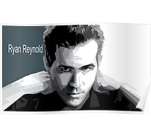 celeb portrait actor art Ryan Reynold Poster