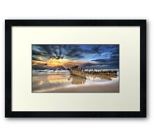 Sunrise Shipwreck Framed Print