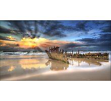 Sunrise Shipwreck Photographic Print