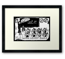 Dark Palestine Dreams Framed Print