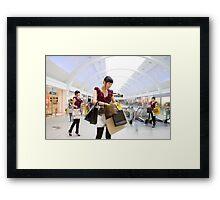 shopping adiction Framed Print