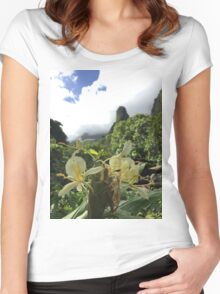 Iao valley orchid  Women's Fitted Scoop T-Shirt