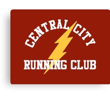 Central City Running Club – The Flash, Barry Allen Canvas Print