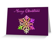Purple Snowflake Greeting Card