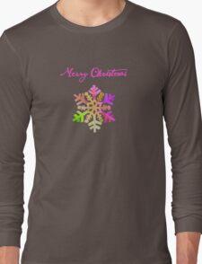 Purple Snowflake Long Sleeve T-Shirt