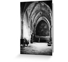 Inside the Cathedral of Toledo, Spain Greeting Card