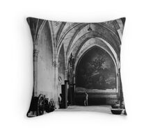 Inside the Cathedral of Toledo, Spain Throw Pillow