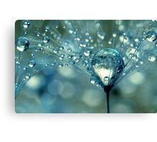 Blue Sparkles Canvas Print