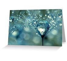 Blue Sparkles Greeting Card