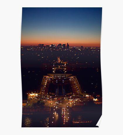 Sunset over Paris Poster