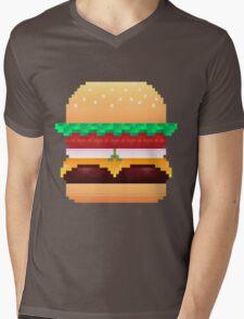 Pixel Krabby Patty V.1 Mens V-Neck T-Shirt