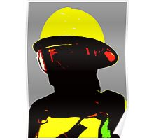 """Fireman"" - Work in which describe image of forest fireman Poster"