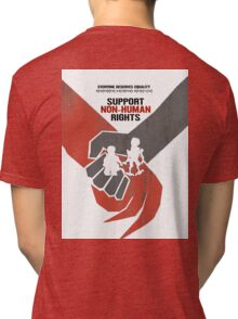 "DISTRICT 9 ""Support Non-human rights"" Tri-blend T-Shirt"