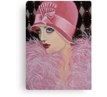 ART DECO LADY Canvas Print