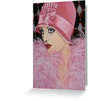 ART DECO LADY Greeting Card