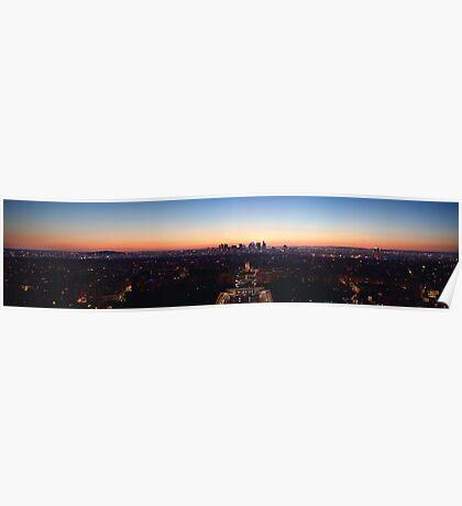 Paris panoramic Poster