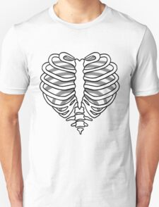 Skeleton rib cage heart Unisex T-Shirt