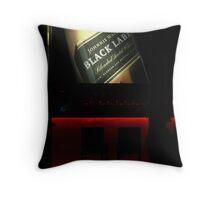 Black Label Throw Pillow